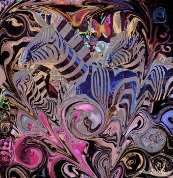 Hearts & Zebras - Pink