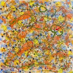 """Kaleidoscope, Acrylic Painting, 36"""" x 36"""""""