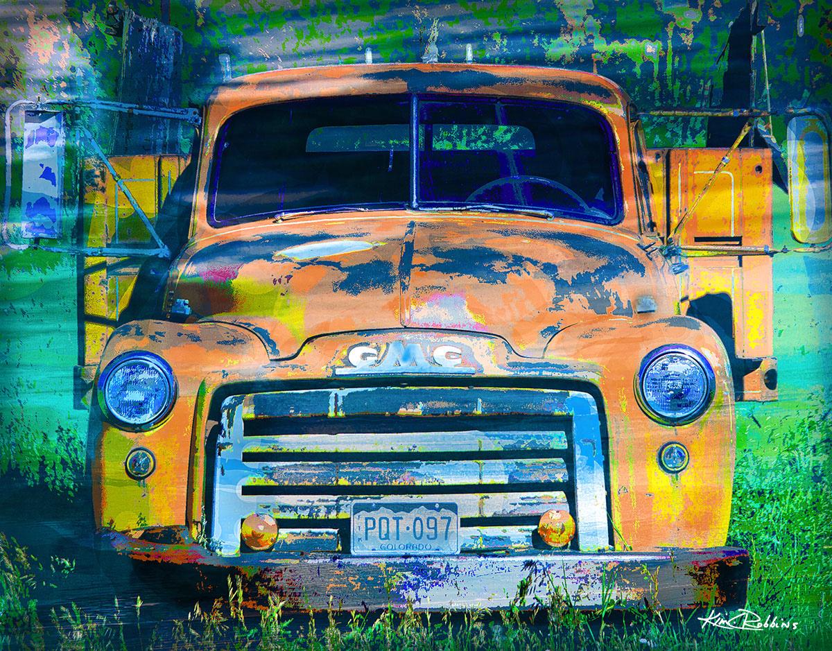 GMC Yellow Truck