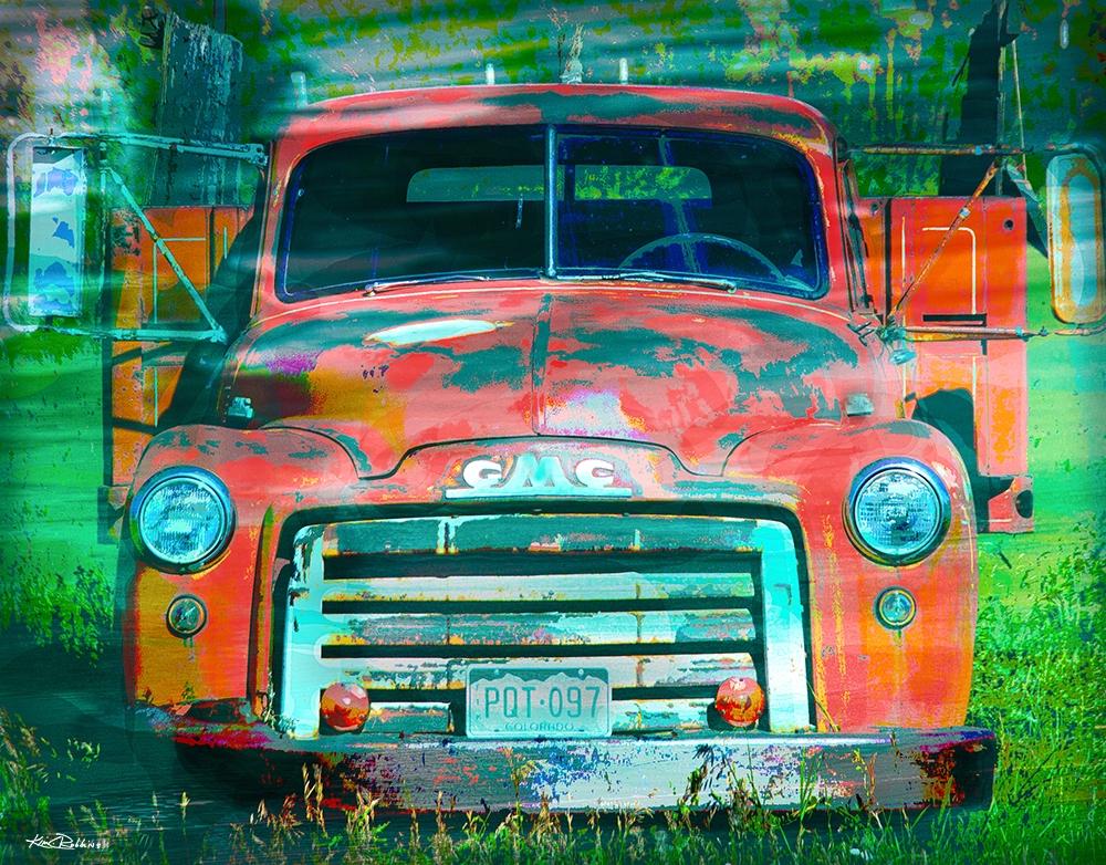 GMC Orange Truck