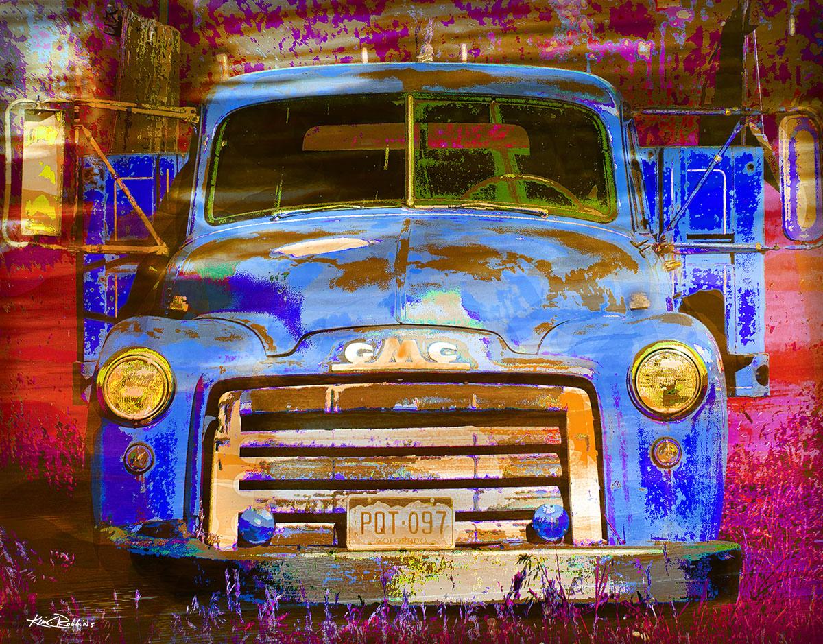 GMC Blue Truck