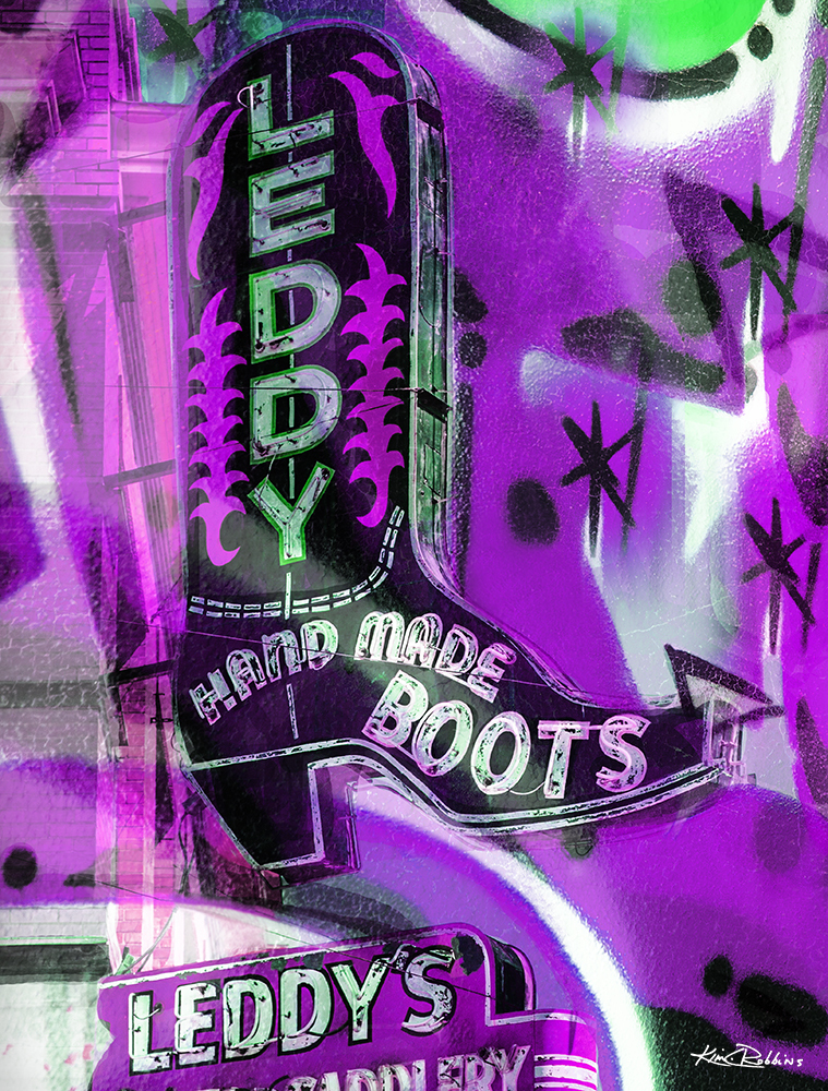 Leddys Boot Abstract Purple
