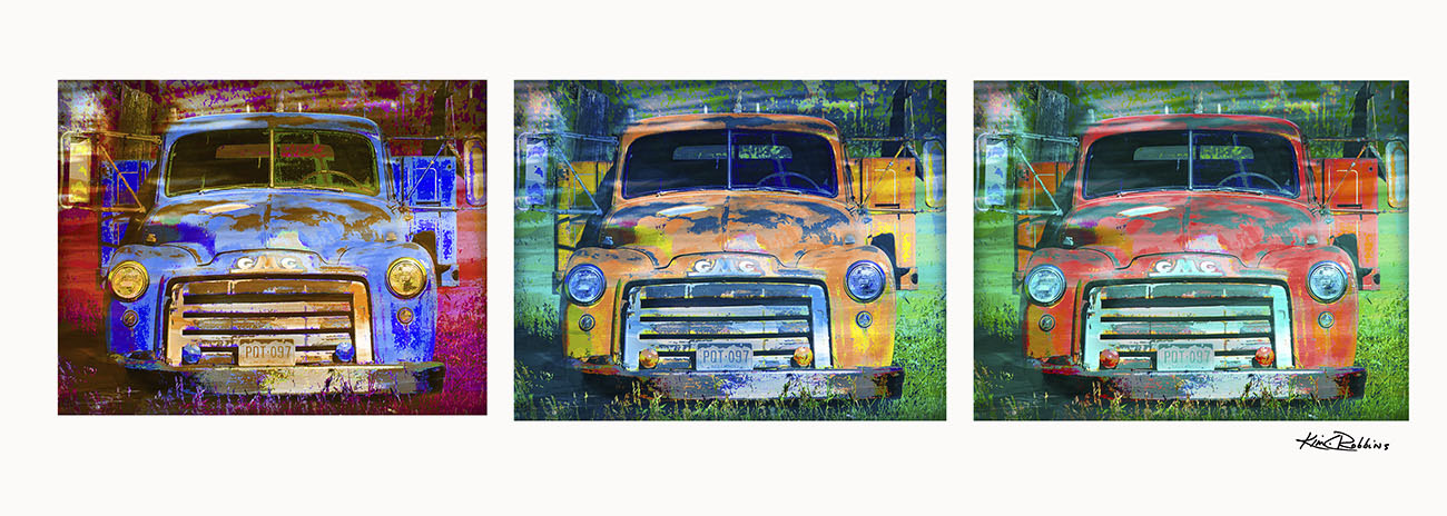 Commissioned GMC Truck Triptych