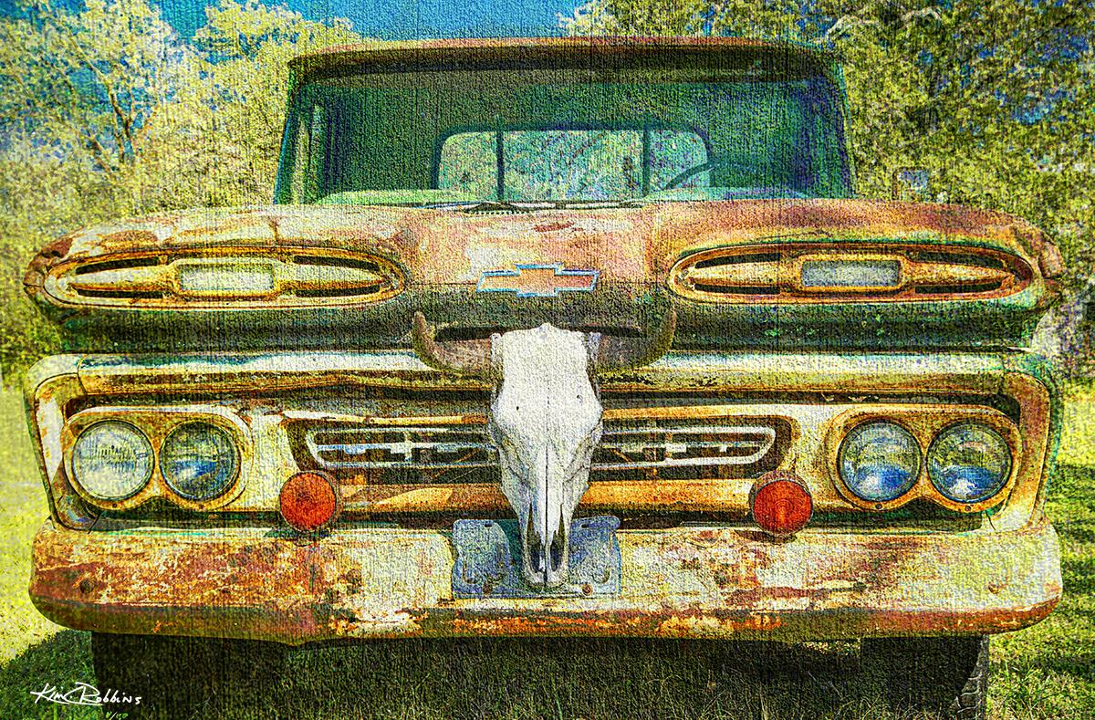 Truck & Cow Skull